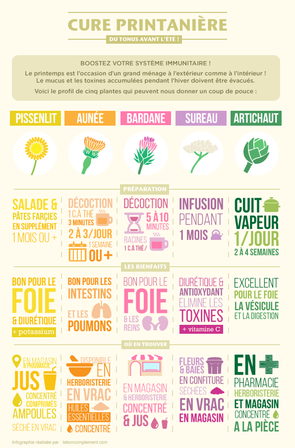 INFOGRAPHIE CURE PRINTANIERE
